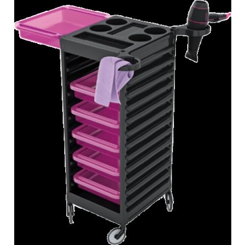Easy Trolley Blk - Violet Drawers