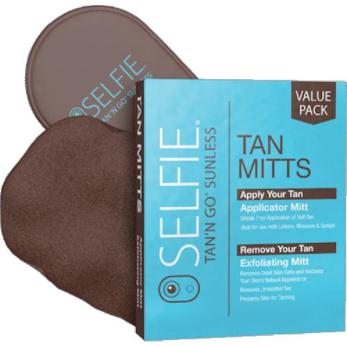 Selfie Tan'N Go Applicator & Exfoliating Mitt 2 Pcs. Box